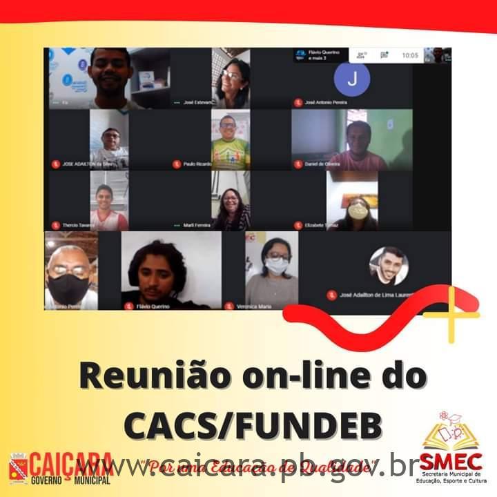 """Secretaria de Educação realiza """"Reunião online do CACS/FUNDEB"""""""
