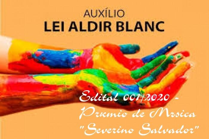 """Edital 0001/2020 – Prêmio de Música """"Severino Salvador"""""""